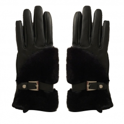 Morgan Leather and fake fur gloves
