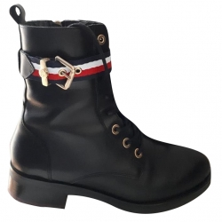 Tommy Hilfiger Signature Lace Up biker boots