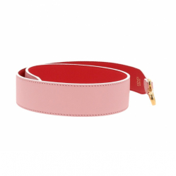 Fendi leather strap in red and pink leather