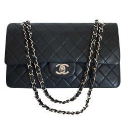 Chanel Classic 2.55 Double Flap Bag SHW