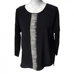 Luisa Cerano Black and white tunic