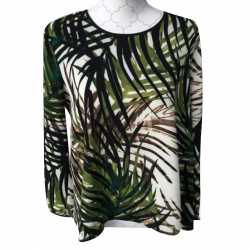 Lanacaprina top viscose fern