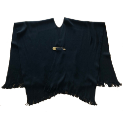 Moschino Poncho with golden Moschino brooch