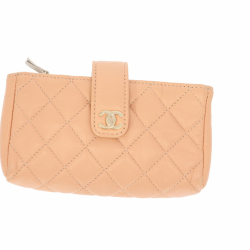 Chanel little purse in pink leather