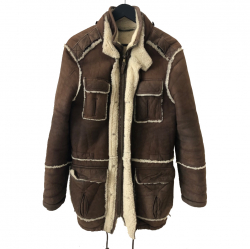 Dolce & Gabbana Sheepskin coat turned upside down