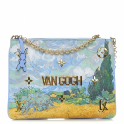 Louis Vuitton  Pochette Clutch Limited Edition Jeff Koons Van Gogh Print Canvas