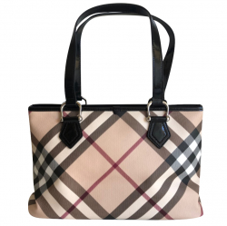 Burberry Induced canvas and patent leather bag