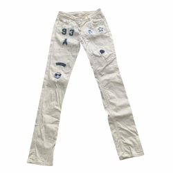 Patrizia Pepe Beige jeans with stickers