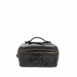 Chanel Beauty Case in black patent.