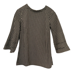 Comma Checkered Blouse