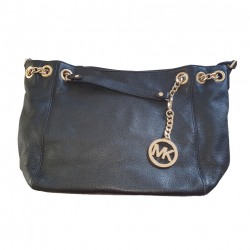 MICHAEL Michael Kors Black grained leather tote