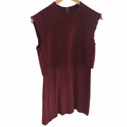 Sandro Burgundy dress