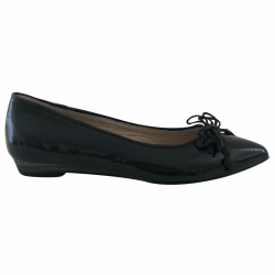 Varese black lacquer ballerinas (pointed)