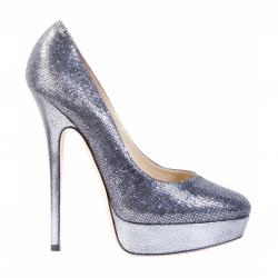 Jimmy Choo Metallic Silver Pumps