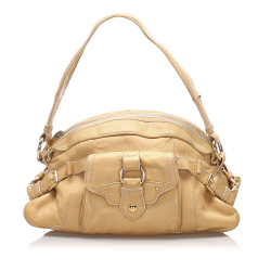 Celine AB Celine Brown Beige Calf Leather Shoulder Bag Italy