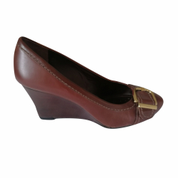 Geox Brown Geox heels with gold buckle