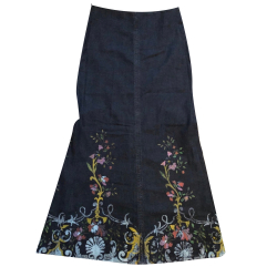 Roberto Cavalli Denim long skirt