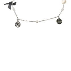 Christian Dior B Dior Silver Metal Silver-Tone Necklace France