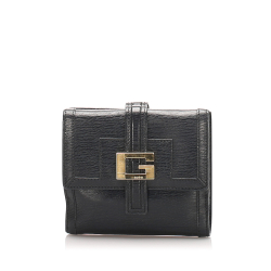 Gucci AB Gucci Black Calf Leather Small Wallet Italy