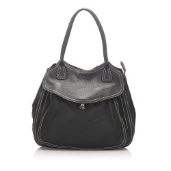 Prada B Prada Black Calf Leather Tote Bag Italy