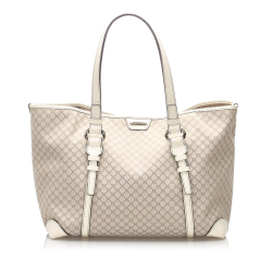Celine B Celine White Fabric Macadam Canvas Tote Bag France