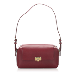 Gucci B Gucci Red Calf Leather Shoulder Bag Italy
