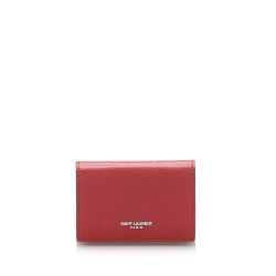 Saint Laurent B YSL Red Calf Leather Small Wallet France