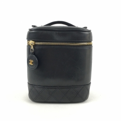 Chanel Comestic Case in black leather