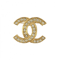 Chanel CC Brooch with strass