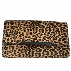 Christian Louboutin 'Iconic Rougissime' Calf hair clutch