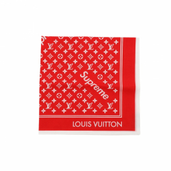 Louis Vuitton x Supreme Rote Bandana