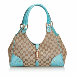 Gucci Nailhead Jacquard Jackie Shoulder Bag