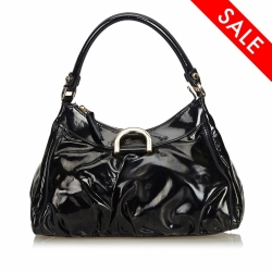Gucci Abbey D-Ring Patent Leather Handbag