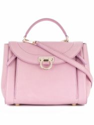 Salvatore Ferragamo Leather Sofia Rainbow Satchel