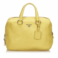 Prada Vitello Daino Leather Handbag