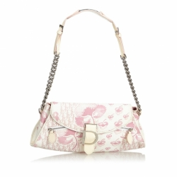 Christian Dior Floral Oblique Canvas Baguette