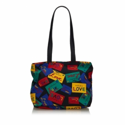 Yves Saint Laurent Love Printed Nylon Shoulder Bag