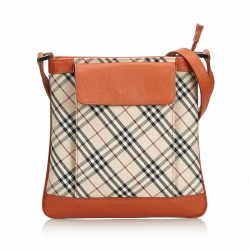 Burberry Plaid Jacquard Crossbody Bag