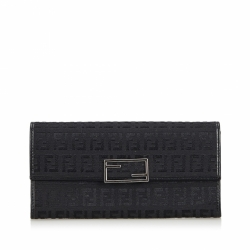 Fendi Canvas Zucca Long Wallet