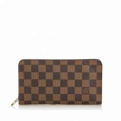 Louis Vuitton Damier Ebene Porte Monnie Zippy Wallet