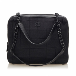 Chanel Choco Bar Chain Cotton Handbag