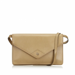 Christian Dior Honeycomb Leather Crossbody Bag