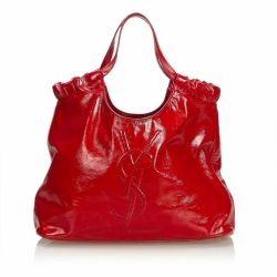 Yves Saint Laurent Patent Leather Tote Bag