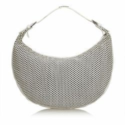 Christian Dior Perforated Leather Hobo Bag