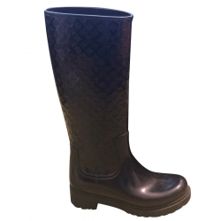 Louis Vuitton Rain Boots black