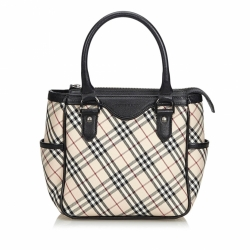 Burberry Plaid Jacquard Handbag
