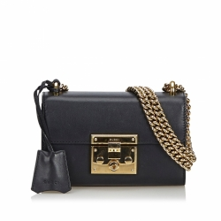 Gucci Leather Small Padlock Shoulder Bag