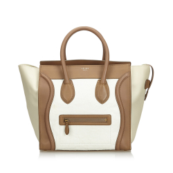 Céline Leather Luggage Tote Bag