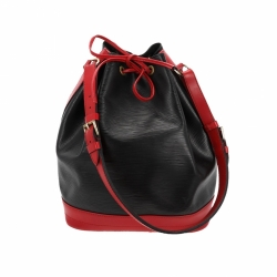 Louis Vuitton Grand Noé Bag black red