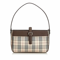 Burberry Plaid Jacquard Baguette